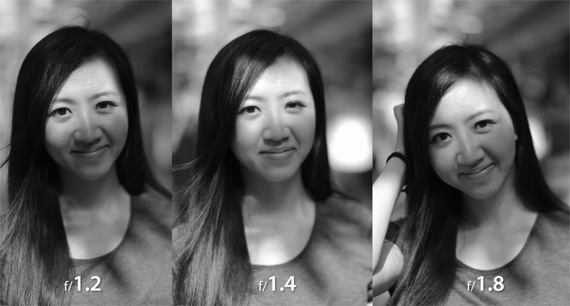 canon f/1.8 f/1.4 f/1.6 comparison