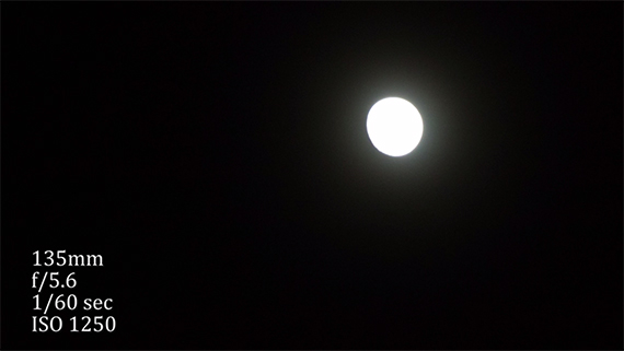 blown out moon photo